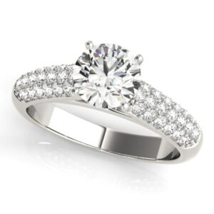 Pave Cathedral Engagement Ring