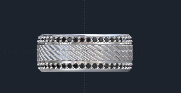 Tire Tread wedding ring