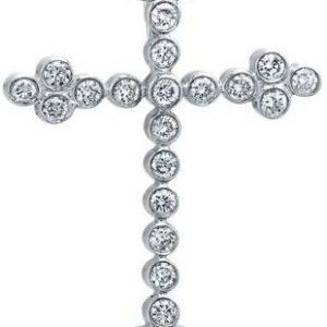 Bezel Set Diamond Cross Pendant