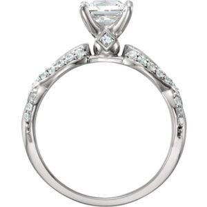 Princess Infinity Engagement Ring