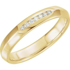 Knife Edge Men's Wedding Ring