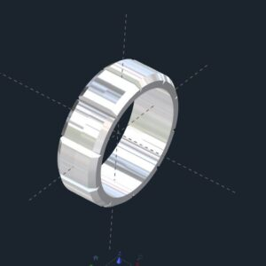 Men's Notched Section Wedding Band