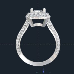Split Shank Double Halo Engagement Ring