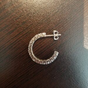 3/4 Carat Diamond Hoop Earrings