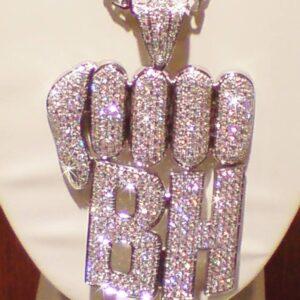"""""""BH"""" Diamond Fist Pendant"""