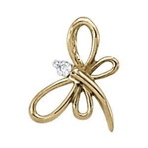 Gemstone or Diamond Butterfly Pendant