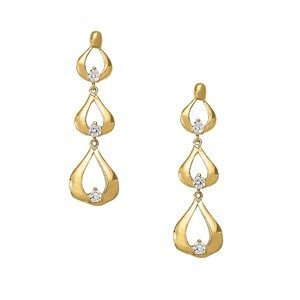 1/2 Carat Triple Tear Drop Earrings