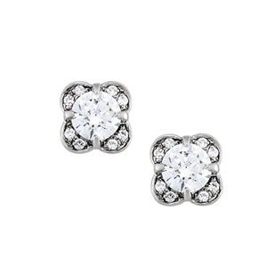 Accented Solitaire Earrings