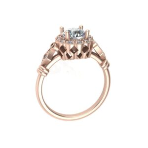 Oval Vintage Halo Ring