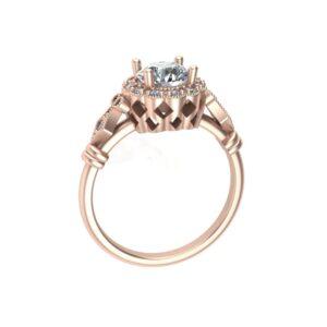 Vintage Milgrained Halo Ring