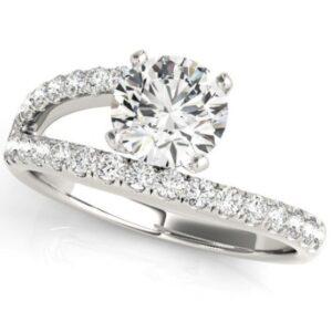 Split Shank Bypass Engagement Ring