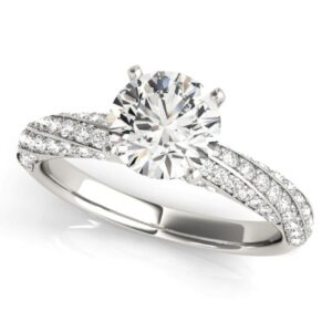 Curved Channel Engagement Ring
