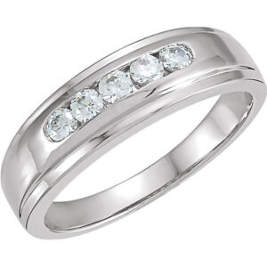 Channel Set Men's Wedding Ring