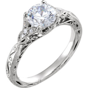 Celtic Cathedral Engagement Ring
