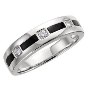 Onyx & Diamond Wedding Ring