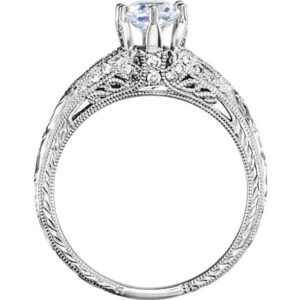 6 Prong Art Deco Engagement Ring