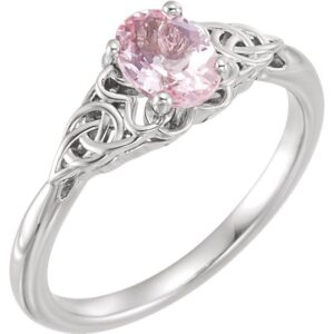 Celtic Inspired Solitaire Ring