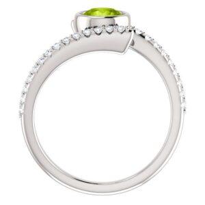 Bezel Set Accented Bypass Ring