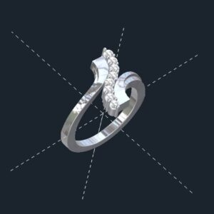 8 Stone Bypass Ring