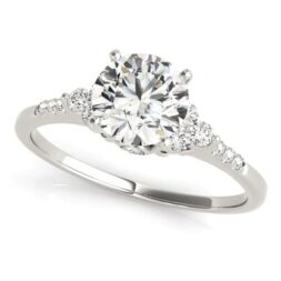 Accented 3 Stone Engagement Ring