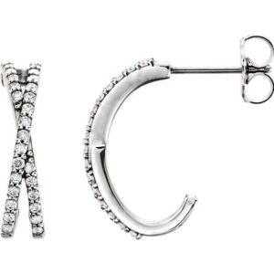 Diamond Criss Cross Earrings
