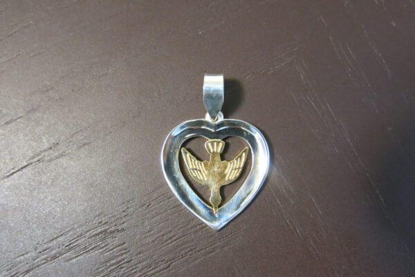Heart and Dove Pendant