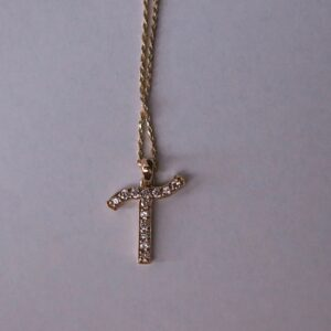 Diamond Letter Necklaces