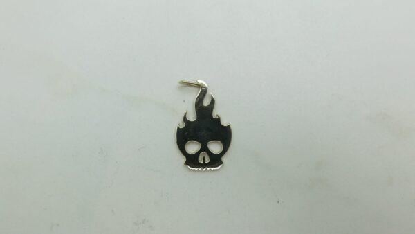 Flaming Skull Pendant