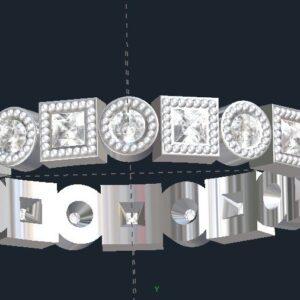 Bezel Set Milgrained Eternity Ring