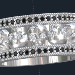 Men's Skull Eternity Band