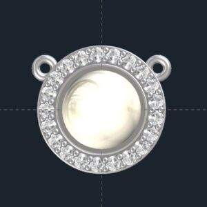 Pearl Halo Pendant