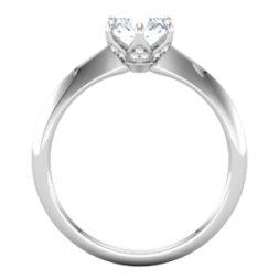 6 prong Solitaire Engagement Ring