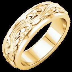 Custom Flower Wedding Ring