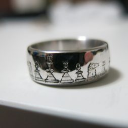 hand engraved custom wedding ring