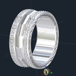 Men's Armor Plate Wedding Ring