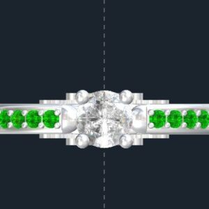 Star Wars Ahsoka Lightsaber Accented Engagement Ring