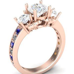 Panda & Koala Bear 3 Stone Engagement Ring