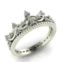 Scalloped Crown Ring