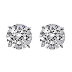3/8 carat 4 Prong Stud Earrings