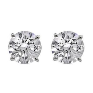 4 Prong Stud Earrings