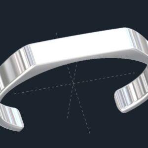 Flat Top Cuff Bracelet