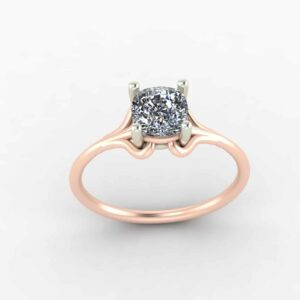 Looped Shank 2 Tone Solitaire Ring