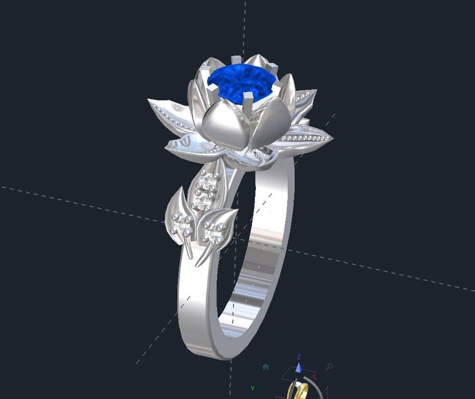 Lotus Flower Engagement Rings Flower Engagement Ring Valeria Fj