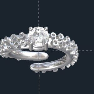 Octopus Tentacle Engagement Ring