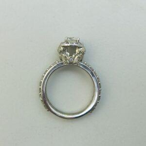 Hand Engraved Harry Potter Inspired Owl Engagement Ring