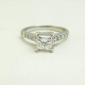 1 1/4 Carat Princess Cut Diamond Engagement Ring