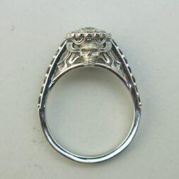 Skull Halo Engagement Rings