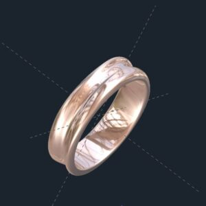Unisex Wave Wedding Band