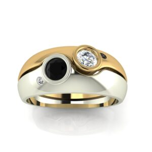 2 Tone Wedding Ring